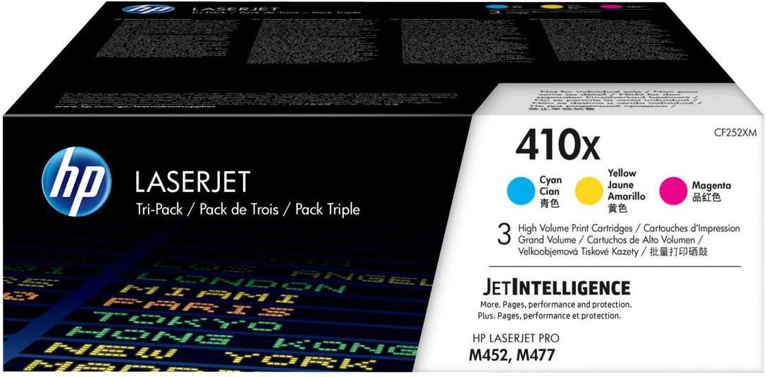 HP Nr. 410X 3er-Pack cyan/magenta/gelb (CF252XM)