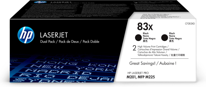 HP Nr. 83X schwarz (CF283XD) Doppelpack