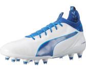 Scarpe da calcio Evotouch Pro FG da uomo, Puma White-True Blue-Blue Danube, 12,5 M US