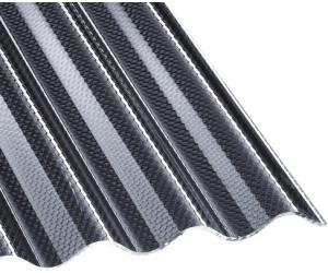 Acryl Wellplatten Profilplatten Sinus 76//18 wabe Struktur bronce 3 mm 3500 x 1045 x 3 mm
