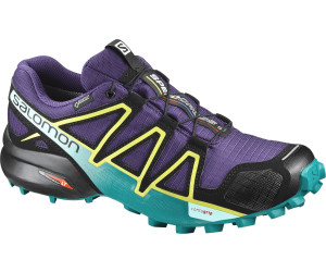 Salomon Speedcross 4 GTX Damen Trailrunning-Schuhe, Blau (Poseidon/Virtual Pink/Sunny Lime), 41 1/3 EU