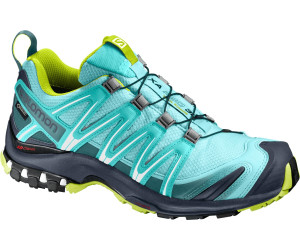 Salomon Xa Pro 3D Damen Traillaufschuhe, Grau/Türkis (Quarry/Pearl Blue/Aruba Blue), 36 EU