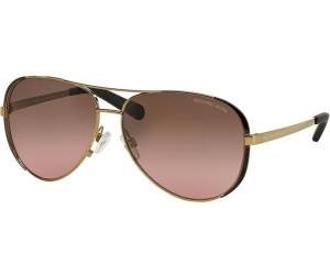 MICHAEL KORS Michael Kors Damen Sonnenbrille »CHELSEA MK5004«, goldfarben, 101414 - gold/braun