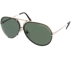 NEW Porsche Design P8478 E 66mm Copper Grey Flash Gold Sunglasses