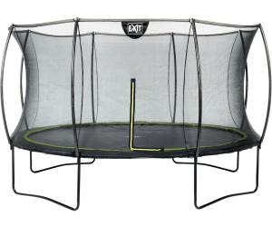 exit trampolin silhouette 366 cm mit sicherheitsnetz schwarz ab 279 35 preisvergleich bei. Black Bedroom Furniture Sets. Home Design Ideas