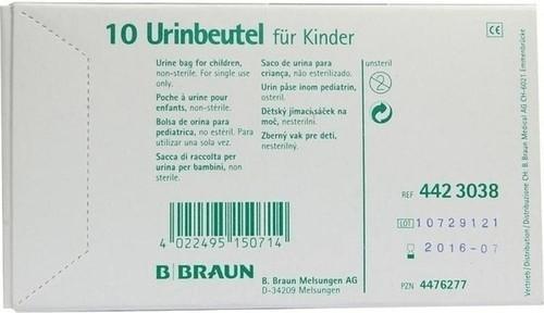 B. Braun Urinbeutel zum Ankleben unsteril (10 S...