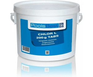 poolsbest chlortabletten l 200 g tabs 3 kg ab 19 80. Black Bedroom Furniture Sets. Home Design Ideas