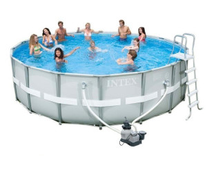 intex ultra frame pool 549 x 132 cm ab 359 90 preisvergleich bei. Black Bedroom Furniture Sets. Home Design Ideas
