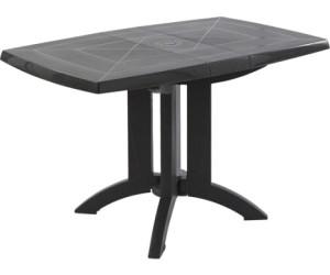 Grosfillex Table pliante Vega anthracite (118 x 77 cm) au ...