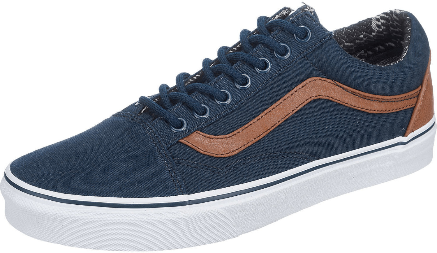 Vans Old Skool dress blues/material mix
