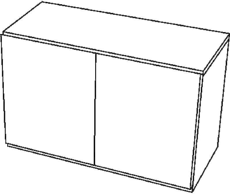 Keramag 4U Seitenschrank weiß Hochglanz (804285)