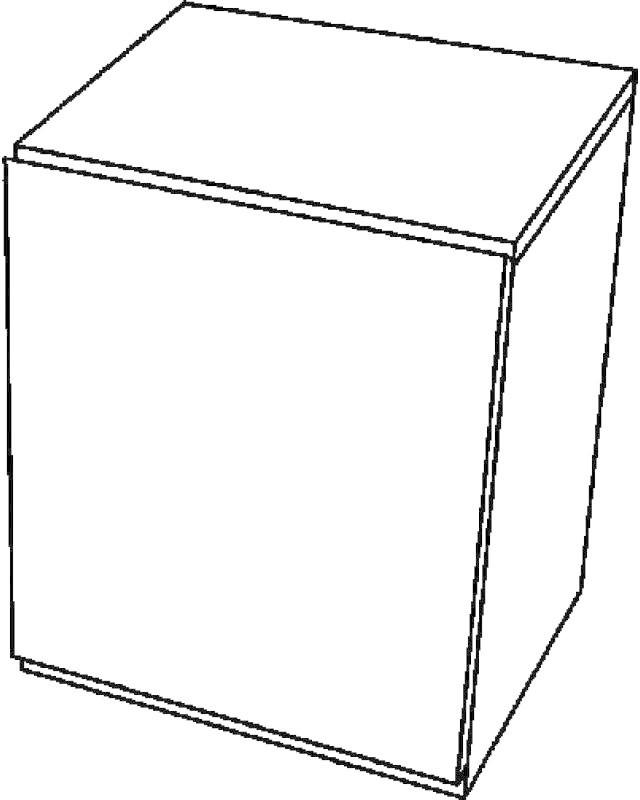 Keramag 4U Seitenschrank weiß Hochglanz (804245)