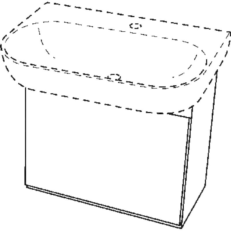 Keramag 4U weiß matt/Motiv weiß glänzend(80416)