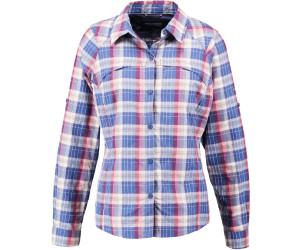 Columbia Silver Ridge Plaid LS Shirt Women bluebell mid scale dobby