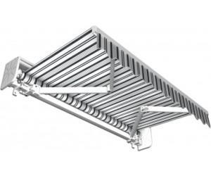 Jarolift Gelenkarmmarkise 395 x 300 cm grau-weiß