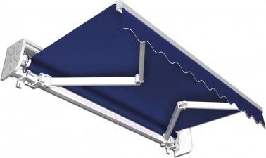 Jarolift Gelenkarmmarkise 395 x 300 cm blau uni