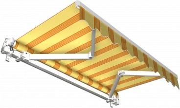 Jarolift Gelenkarmmarkise 395 x 300 cm gelb-weiß