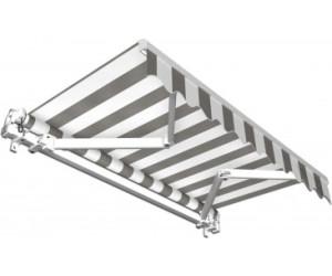 Jarolift Gelenkarmmarkise 250 x 150 cm hellgrau-weiß