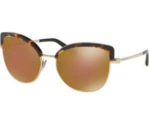 Bulgari BVLGARI Damen Sonnenbrille 0BV6082 278/13, Gold (Pale Gold/Dark Havana/Brown Gradient), 58