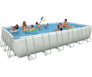 Intex ultra frame set quadra ii 732 x 366 x 132 cm desde for Piscina estructural intex