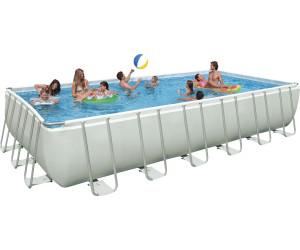 Intex ultra frame pool quadra ii 732 x 366 x 132 cm ab for Garten pool 366