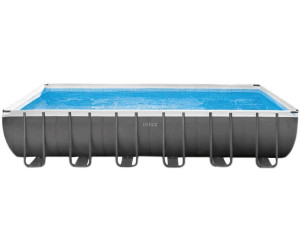 Intex ultra frame pool quadra ii 732 x 366 x 132 cm mit for Garten pool mit sandfilter