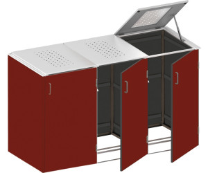 binto m lltonnenbox hpl 3 x 240 liter rot klappdeckel ab preisvergleich bei. Black Bedroom Furniture Sets. Home Design Ideas
