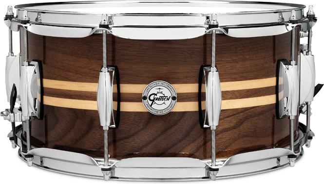 Gretsch Renown Walnut Snare Maple Inlays