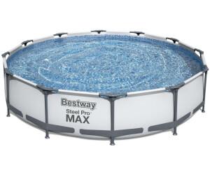 Bestway steel pro frame pool 366 x 76 cm for Garten pool 366x122