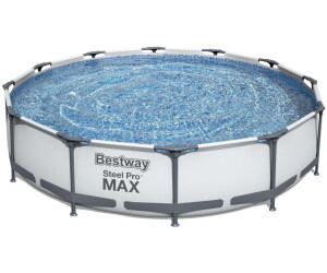 Bestway steel pro frame pool 366 x 76 cm ab 86 90 for Obi filtersand pool