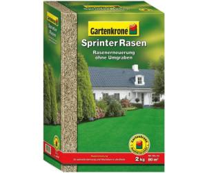 Gartenkrone Sprinter Rasen 2 kg für bis zu 80 m² Rasensamen