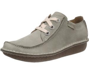 CLARKS FUNNY DREAM Schuhe Damen Leder Schnürschuhe jeans