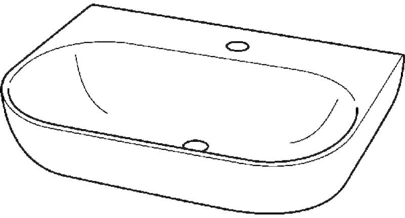 Keramag 4U 70 x 47,5 cm (123470000)