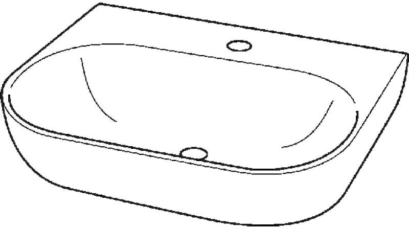 Keramag 4U Waschtisch 65 x 47,5 cm (223465000)