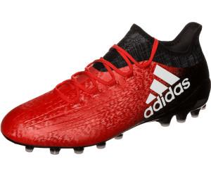 adidas Herren X 16.3 in Leather Fußballschuhe, Rot (Solar Red/Silver Metallic/Hi-Res Red), 44 2/3 EU