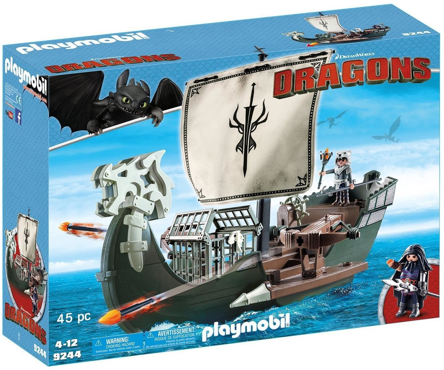 Playmobil Dragons - Dragos Schiff (9244)