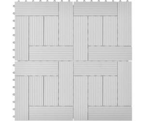 vidaxl terrassenfliesen wpc 30 x 30 cm grau 11 st ck ab 30 99 preisvergleich bei. Black Bedroom Furniture Sets. Home Design Ideas