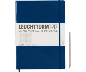 Leuchtturm1917 Notizbuch Master Slim Kariert marine