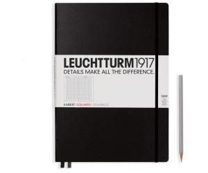 Leuchtturm1917 Notizbuch Master Slim Kariert schwarz