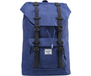 3b6c9e36fb7 Herschel Little America Backpack Mid-Volume Mid-Volume Backpack eclipse  crosshatch black rubber