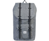 8d649d7cc107 Herschel Little America Backpack raven crosshatch black rubber (01132)