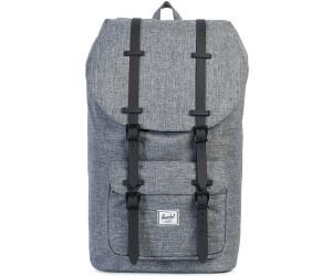 8c27a765df Herschel Little America Backpack sac à dos pour ordinateur portable raven  crosshatch/black rubber (01132)