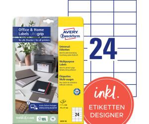 Avery Zweckform Universal-Etiketten Etiketten weiß matt 240 Stück 70x37 Drucker