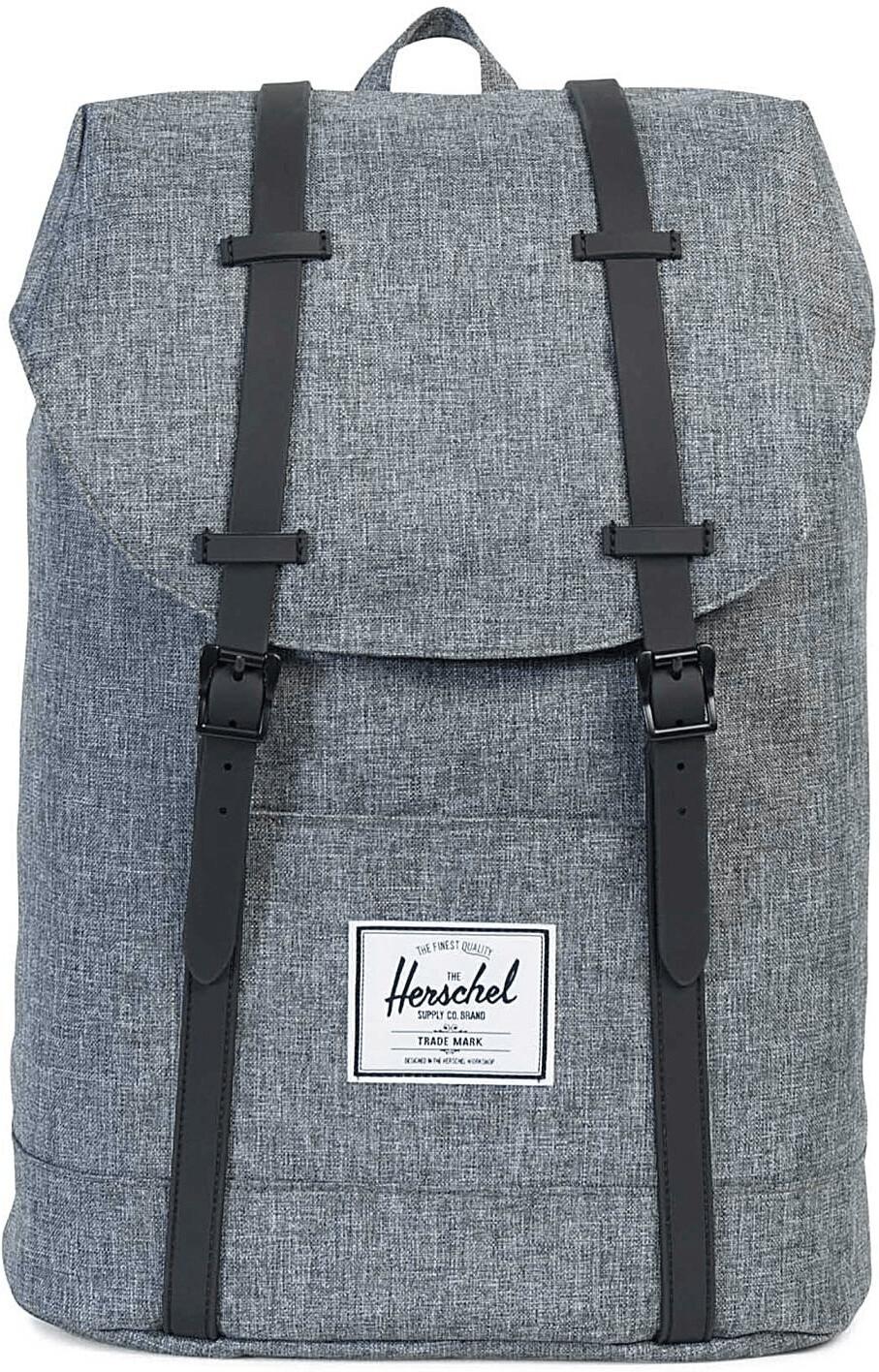 Herschel Retreat Backpack raven crosshatch/black rubber (01132)