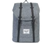 d22dd80fb9b3 Herschel Retreat Backpack raven crosshatch black rubber (01132)
