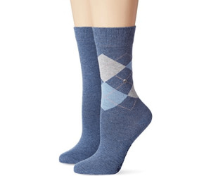 Burlington Women's socks Everyday Argyle blue/jeans blue (22044-6660)