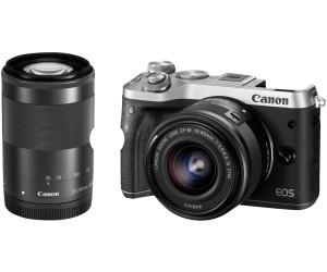 Canon EOS M6 Kit 15-45 mm + 55-200 mm argent