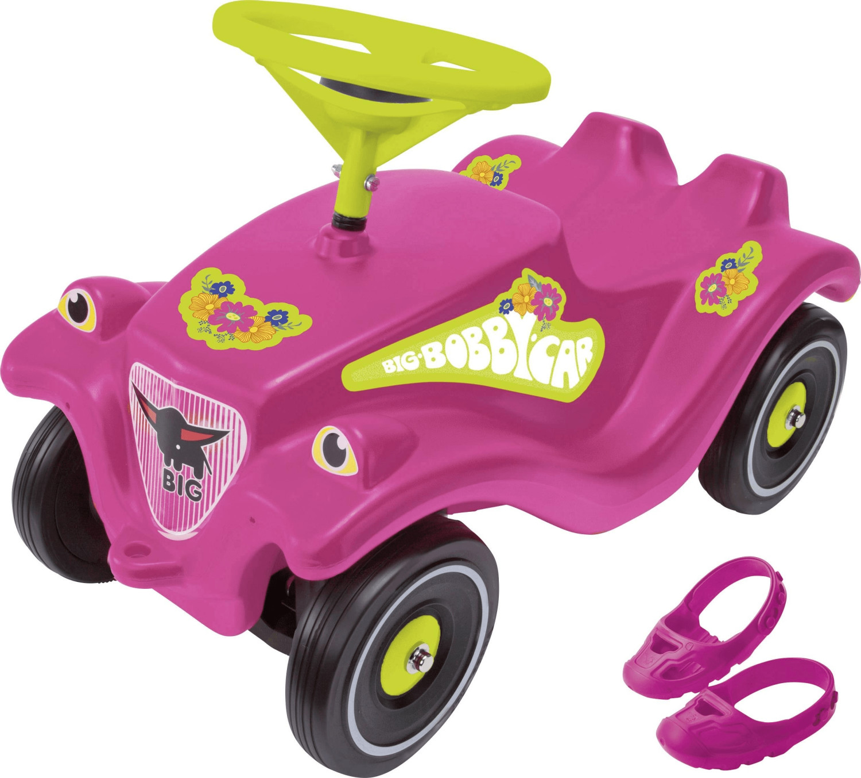 Dickie Big Bobby Car Pink Flower mit Schuhschoner