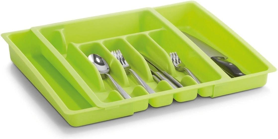 Zeller Kunststoff Besteckkasten ausziehbar (grün)