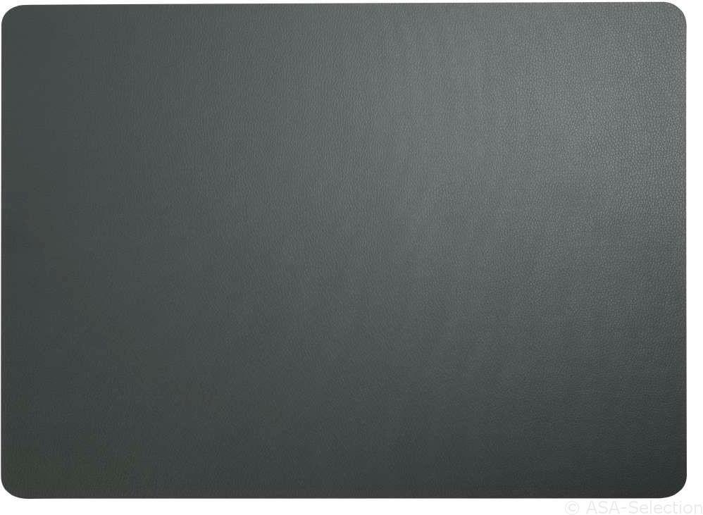 ASA Tischset Kunstleder basalt 33 x 46 cm